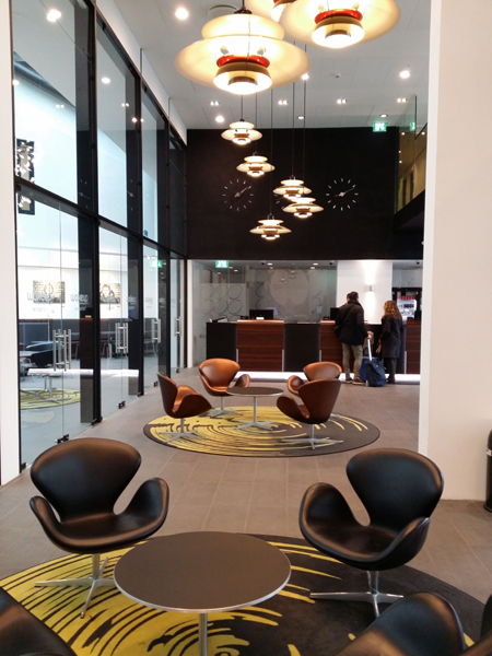 Recepce v hotelu WakeUp Copenhagen